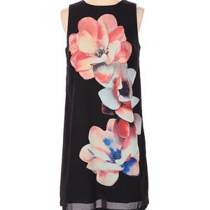 Premise Black Floral Swing Dress NWT Small
